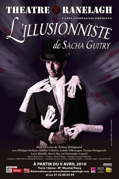 Affiche de la pièce de théâtre L'illusionniste de Sacha Guitry