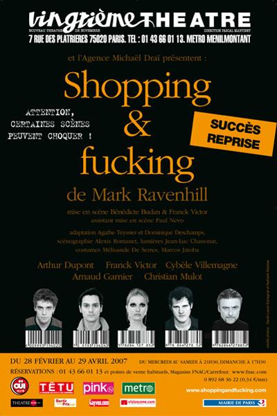 Affiche Shopping and Fucking, pièce de théâtre de Mark Ravenhill