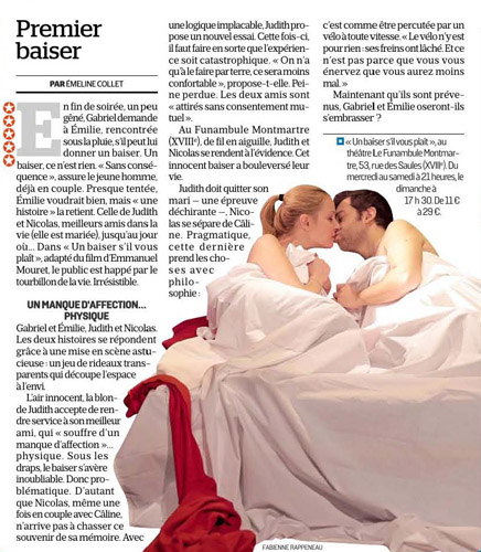 Critique de la pièce de théâtre Un baiser s'il vous plaît